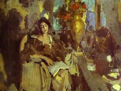 Portrait of a Woman – Konstantin Korovin