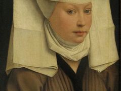 Portrait of a Young Woman in a Pinned Hat – Rogier van der Weyden