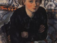 Portrait of daughter Katya — Zinaida Serebriakova