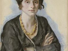 Portrait of Ekaterina Cavos Hunter, the artist's cousin — Zinaida Serebriakova