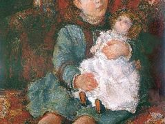 Portrait of Germaine Hoschede with a Doll – Claude Monet