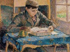 Portrait of Rodo Reading – Camille Pissarro
