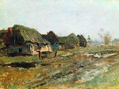 Quartered in the village – Isaac Levitan