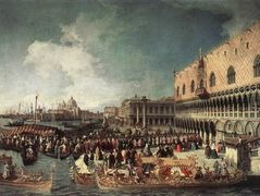 Reception of the Ambassador in the Doge's Palace – Canaletto
