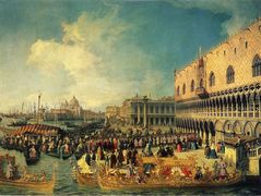 Reception of the Imperial Ambassador at the Doge's Palace – Canaletto