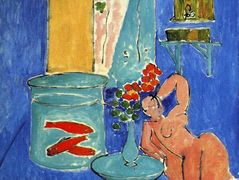 Red Fish and a Sculpture – Henri Matisse