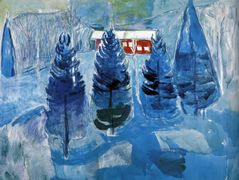 Red House and Spruces — Edvard Munch