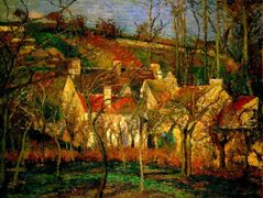 Red Roofs, Corner of a Village, Winter – Camille Pissarro