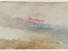 Red Sky over a Beach – William Turner
