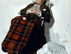 Relaxing in Chair – Norman Rockwell