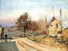 Road from Osny to Pontoise, Hoar Frost – Camille Pissarro