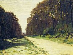 Road in a Forest Fontainebleau – Claude Monet