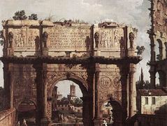 Rome: The Arch of Constantine – Canaletto