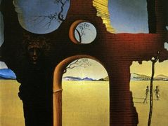 Ruin with Head of Medusa and Landscape – Salvador Dali
