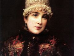 Russian Beauty in Kokoshnik – Konstantin Makovsky