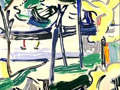 Sailboats through the trees – Roy Lichtenstein