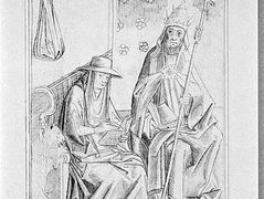 Saint Gregory the Great and St. Jerome – Rogier van der Weyden