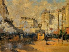 Saint-Lazare Station, Sunlight Effect — Claude Monet