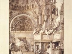 San Marco: the Crossing and North Transept, with Musicians Singing – Canaletto