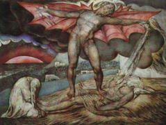 Satan smiting Job with boils – William Blake