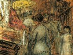 Scene on the Lower East Side – William James Glackens