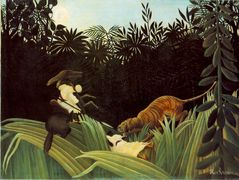 Scout Attacked by a Tiger – Henri Rousseau