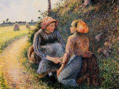 Seated and Kneeling Peasants – Camille Pissarro