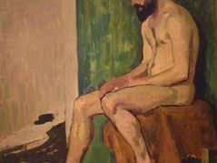 Seated bearded man  – Roger de La Fresnaye