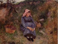 Seated Peasant Girl – Camille Pissarro