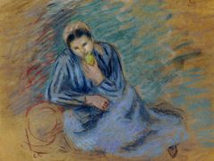 Seated Peasant Woman Crunching an Apple – Camille Pissarro