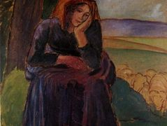 Seated Shepherdess – Camille Pissarro