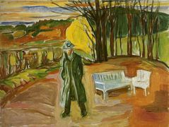 Self-Portrait in the Garden, Ekely – Edvard Munch