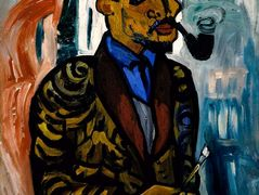 Self-Portrait with Pipe – William H. Johnson
