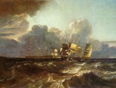 Ships Bearing up for Anchorage ('The Egremont Sea Piece') – William Turner