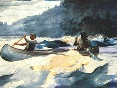 Shooting the Rapids – Winslow Homer