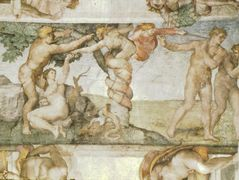 Sistine Chapel Ceiling: The Temptation and Expulsion – Michelangelo