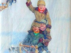 Skating from Mountain – Nikolay Bogdanov-Belsky