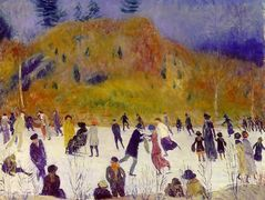 Skating in Central Park – William James Glackens