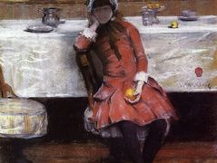 Sketch on a Young Girl on Ocean Steamer – William Merritt Chase