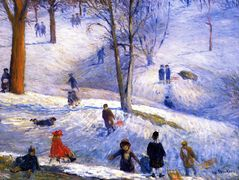 Sledding – William James Glackens