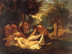 Sleeping Venus, surprised by Satyr – Nicolas Poussin