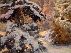 Snow in the Night – Nikolay Bogdanov-Belsky