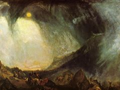 Snow Storm, Hannibal and His Army Crossing the Alps – William Turner
