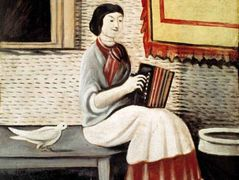 Sona Gorashvili playing accordion – Niko Pirosmani