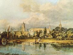South View of Christ Church, from the Meadows – William Turner