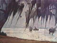 Spanish moss at tampa – Winslow Homer
