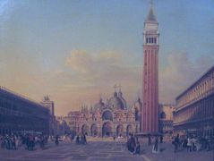 St. Mark's Square in Venice with Austrian military – Rudolf von Alt