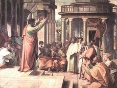 St. Paul Preaching at Athens (cartoon for the Sistine Chapel)  — Raphael