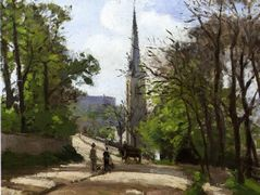 St. Stephen's Church, Lower Norwood – Camille Pissarro