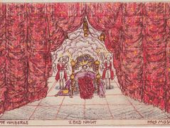 Stage design for 'Jeep from the mountain' of Louis Holzberg, stage 2 – Night – Koloman Moser